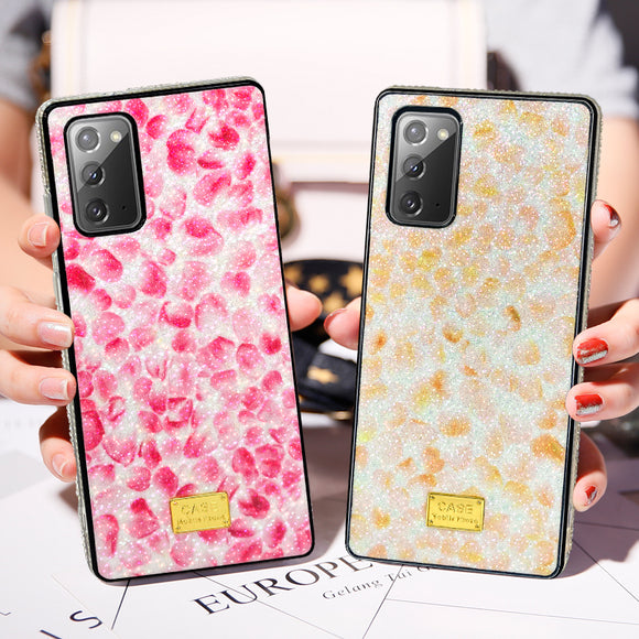 Glitter Gradient Flower Petal Soft Phone Case Back Cover for Samsung Galaxy S20 Ultra/S20 Plus/S20/S10E/S10 Plus/S10/S9 Plus/S9/S8 Plus/S8/Note 20 Ultra/Note 20/Note 10 Plus/Note 10