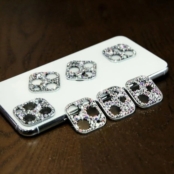 Ladycases - Phone Case Expert - Colorful Rhinestone Camera Len Protector for iPhone 11/11 Pro/11 Pro Max