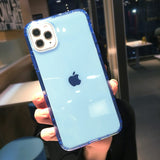 Candy Color Bumper Shockproof Transparent Soft Phone Case Back Cover for iPhone 12 Pro Max/12 Pro/12/12 Mini/SE/11 Pro Max/11 Pro/11/XS Max/XR/XS/X/8 Plus/8/7 Plus/7