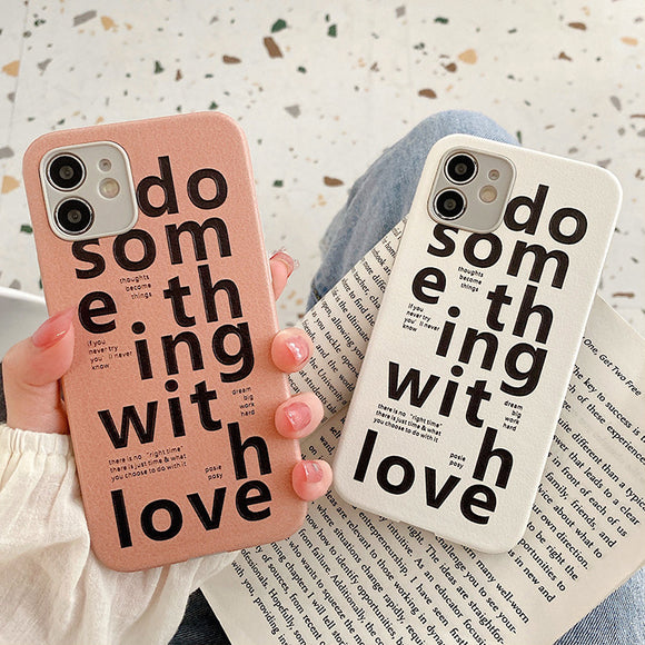 Creative Text Couple Silicone Soft iPhone Case