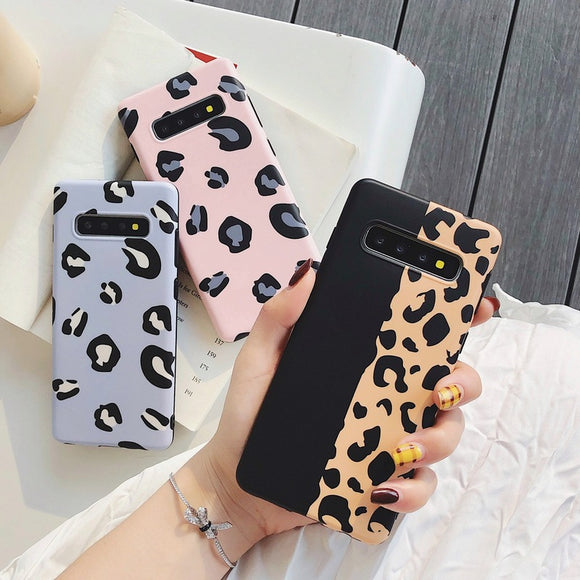 Fashion Leopard Print Soft Phone Case Back Cover for Samsung Galaxy S20 Ultra/S20 Plus/S20/S10E/S10 Plus/S10/S9 Plus/S9/Note 10 Pro/Note 10