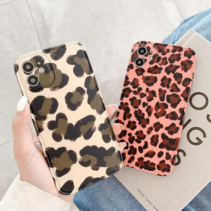 Vintage Leopard Print Silicone Soft Phone Case Back Cover for iPhone 12 Pro Max/12 Pro/12/12 Mini/SE/11 Pro Max/11 Pro/11/XS Max/XR/XS/X/8 Plus/8/7 Plus/7