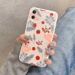 Tomato Flowers Silicone Soft iPhone Case