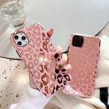 Fashion Glossy Love Heart Leopard Print Soft Phone Case Back Cover for iPhone 12 Pro Max/12 Pro/12/12 Mini/SE/11 Pro Max/11 Pro/11/XS Max/XR/XS/X/8 Plus/8/7 Plus/7