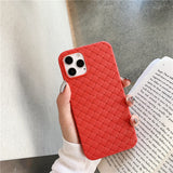 Solid Color Breathable Mesh Grid Soft Phone Case Back Cover for iPhone 12 Pro Max/12 Pro/12/12 Mini/SE/11 Pro Max/11 Pro/11/XS Max/XR/XS/X/8 Plus/8/7 Plus/7