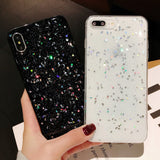 Ladycases - Phone Case Expert - Shiny Powder Little Moon Star Soft Phone Case Back Cover for iPhone SE/11 Pro Max/11 Pro/11/XS Max/XR/XS/X/8 Plus/8/7 Plus/7