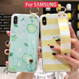 Ladycases - Phone Case Expert - Summer Fruit Lemon Soft TPU Wrist Strap Phone Case Back Cover for Samsung Galaxy S10E/S10 Plus/S10/S9 Plus/S9/S8 Plus/S8/Note 9/Note 8