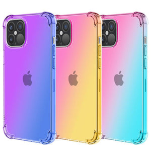 Gradient Rainbow Silicone Soft TPU Silicone Phone Case Back Cover for iPhone 12 Pro Max/12 Pro/12/12 Mini/SE/11 Pro Max/11 Pro/11/XS Max/XR/XS/X/8 Plus/8/7 Plus/7