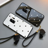 Ladycases - Phone Case Expert - Love Heart Tempered Glass Phone Case Back Cover for Samsung Galaxy S20 Ultra/S20 Plus/S20/S10E/S10 Plus/S10/S9 Plus/S9/S8 Plus/S8/Note 10 Pro/Note 10/Note 9/Note 8