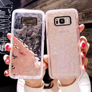 Ladycases - Phone Case Expert - 3D Diamond Pattern Dual Layer Soft TPU Phone Case Back Cover for Samsung Galaxy S20 Ultra/S20 Plus/S20/S10E/S10 Plus/S10/S9 Plus/S9/S8 Plus/S8/Note 10 Pro/Note 10/Note 9/Note 8