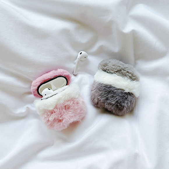 Plush Knit Color Matching AirPods Case