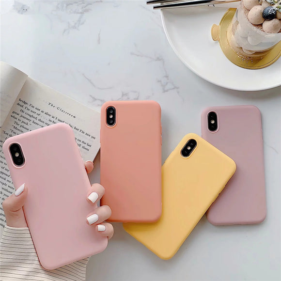 Ladycases - Phone Case Expert - Ultra thin Solid Candy Color Soft TPU Phone Case Back Cover for iPhone SE/11 Pro Max/11 Pro/11/XS Max/XR/XS/X/8 Plus/8/7 Plus/7/6s Plus/6s/6 Plus/6