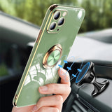 Plating Solid Color Ring Stand Holder Soft Phone Case Back Cover for iPhone 12 Pro Max/12 Pro/12/12 Mini/11 Pro Max/11 Pro/11/XS Max/XR/XS/X/8 Plus/8/7 Plus/7