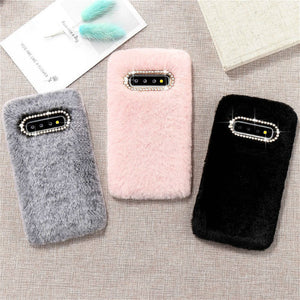 Solid Color Plush Furry Soft Phone Case Back Cover for Samsung Galaxy S20 Ultra/S20 Plus/S20/S10E/S10 Plus/S10/S9 Plus/S9/S8 Plus/S8/Note 20 Ultra/Note 20/Note 10 Plus/Note 10