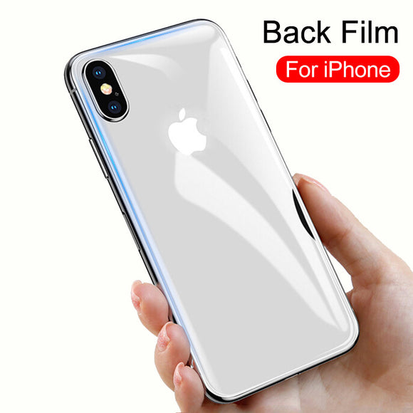 Ladycases - Phone Case Expert - Back Tempered Glass Screen Protector for iPhone 11 Pro Max/11 Pro/11/XS Max/XR/XS/X/8 Plus/8/7 Plus/7/6s Plus/6s/6 Plus/6