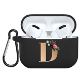 Flower Gold Initial alphabet Letter AirPods/AirPods Pro Case