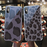 Retro Leopard Cheetah Tempered Glass Phone Case Back Cover for iPhone 12 Pro Max/12 Pro/12/12 Mini/SE/11 Pro Max/11 Pro/11/XS Max/XR/XS/X/8 Plus/8/7 Plus/7