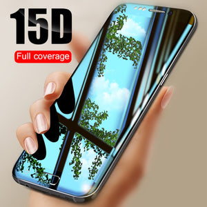 Ladycases - Phone Case Expert - 15D Full Protective Tempered Glass Screen Protector for Samsung Galaxy S10E/S10 Plus/S10/S9 Plus/S9/S8 Plus/S8/S7 Edge/Note 8/Note 9