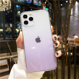 Glitter Powder Gradient Transparent Soft Phone Case Back Cover for iPhone 12 Pro Max/12 Pro/12/12 Mini/SE/11 Pro Max/11 Pro/11/XS Max/XR/XS/X/8 Plus/8/7 Plus/7