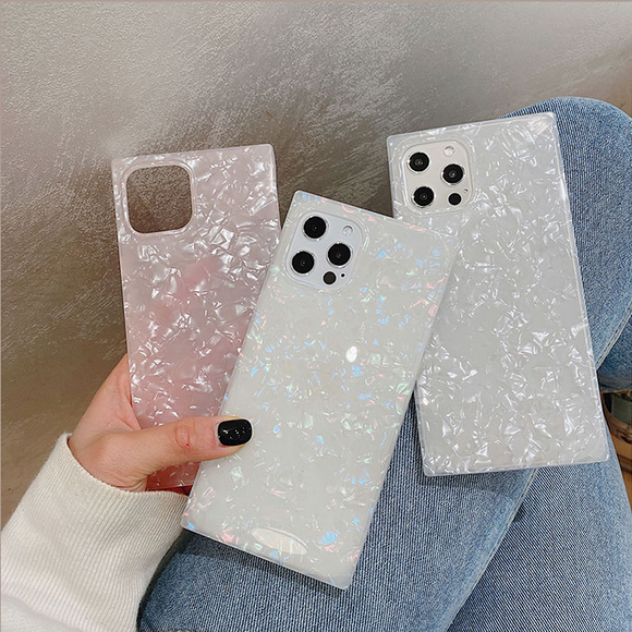 Shiny Shell Pattern Soft Phone Case Back Cover for iPhone 12 Pro Max/12 Pro/12/12 Mini/SE/11 Pro Max/11 Pro/11/XS Max/XR/XS/X/8 Plus/8/7 Plus/7