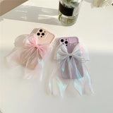 Laser Bowknot Candy Color Soft iPhone Case