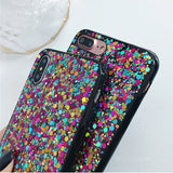 Ladycases - Phone Case Expert - Glitter Colorful Rainbow Soft Phone Case Back Cover for iPhone 11/11 Pro/11 Pro Max/XS Max/XR/XS/X/8 Plus/8/7 Plus/7
