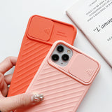 Candy Color Slide Camera Lens Protection Soft Phone Case Back Cover  for iPhone 12 Pro Max/12 Pro/12/12 Mini/SE/11 Pro Max/11 Pro/11/XS Max/XR/XS/X/8 Plus/8/7 Plus/7