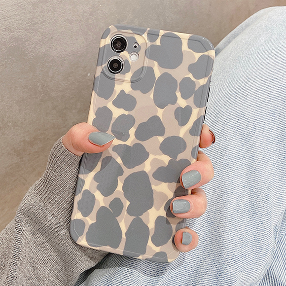 Leopard Print Silicone Soft Phone Case Back Cover for iPhone 12 Pro Max/12 Pro/12/12 Mini/SE/11 Pro Max/11 Pro/11/XS Max/XR/XS/X/8 Plus/8/7 Plus/7