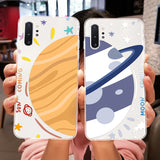 Cartoon Planet Clear Soft Silicone Phone Case Back Cover for Samsung Galaxy S20 Ultra/S20 Plus/S20/S10E/S10 Plus/S10/S9 Plus/S9/Note 10 Pro/Note 10