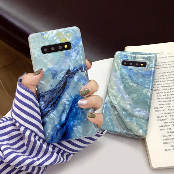 Ladycases - Phone Case Expert - Gradient Marble Dream Shell Phone Case Back Cover for Samsung Galaxy S10E/S10 Plus/S10/S9 Plus/S9/S8 Plus/S8/Note 9/Note 8