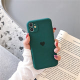 Candy Color Love Heart Camera Lens Protector Soft Silicone Phone Case Back Cover for iPhone 12 Pro Max/12 Pro/12/12 Mini/SE/11 Pro Max/11 Pro/11/XS Max/XR/XS/X/8 Plus/8/7 Plus/7