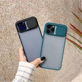 Slide Camera Lens Protector Matte Acrylic Phone Case Back Cover for iPhone 12 Pro Max/12 Pro/12/12 Mini/SE/11 Pro Max/11 Pro/11/XS Max/XR/XS/X/8 Plus/8/7 Plus/7