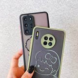 Couples Boy and Girl Matte Phone Case Back Cover for Huawei Mate 40 Pro/Mate 40/Mate 30 Pro/Mate 30/P40 Pro/P40/P30 Pro/P30