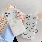 Cute Smiley Face Clear Soft iPhone Case