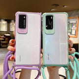 Crossbody Strap Transparent Acrylic Phone Case Back Cover for Samsung Galaxy S20 Ultra/S20 Plus/S20/S10E/S10 Plus/S10/Note 20 Ultra/Note 20