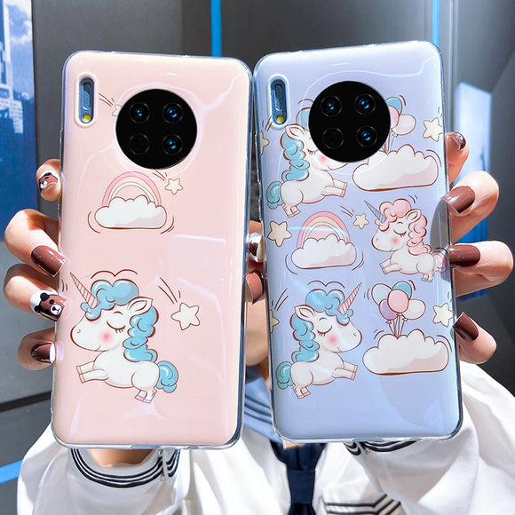 Cartoon Unicorn Soft Phone Case Back Cover for Huawei Mate 40 Pro/Mate 40/Mate 30 Pro/Mate 30/P40 Pro/P40/P30 Pro/P30