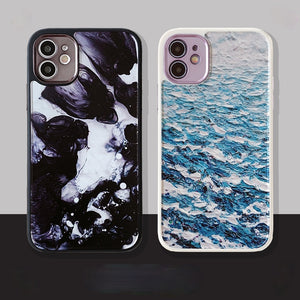 Oil Painting Anti-fall Soft Phone Case Back Cover for iPhone 12 Pro Max/12 Pro/12/12 Mini/SE/11 Pro Max/11 Pro/11/XS Max/XR/XS/X/8 Plus/8/7 Plus/7