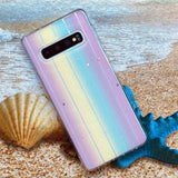 Glitter Star Rainbow Soft Phone Case Back Cover for Samsung Galaxy S20 Ultra/S20 Plus/S20/S10 Plus/S10/S9 Plus/S9/S8 Plus/S8/Note 20 Ultra/Note 20/Note 10 Plus/Note 10