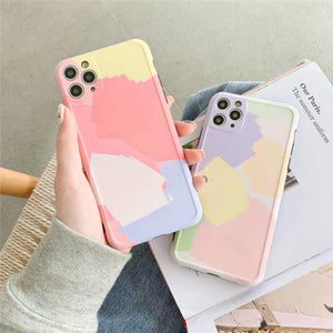 Art Oil Painting Frame Camera Protector Soft Phone Case Back Cover for iPhone 11 Pro Max/11 Pro/11/XS Max/XR/XS/X/8 Plus/8/7 Plus/7