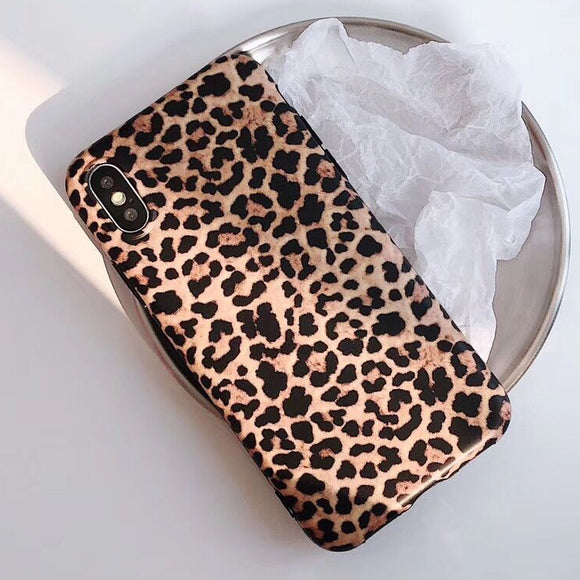 Ladycases - Phone Case Expert - Sexy Leopard Print Matte Soft Phone Case Back Cover for iPhone SE/11/11 Pro/11 Pro Max/XS Max/XR/XS/X/8 Plus/8/7 Plus/7