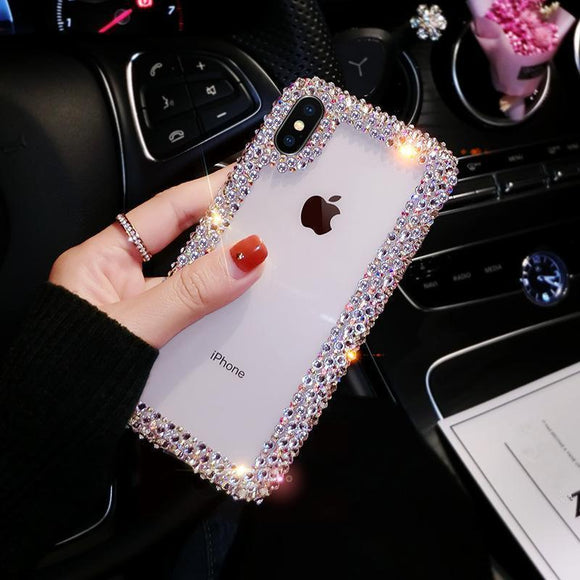 Ladycases - Phone Case Expert - Diamond Edge Phone Case Back Cover for iPhone SE/11 Pro Max/11 Pro/11/XS Max/XR/XS/X/8 Plus/8/7 Plus/7/6s Plus/6s/6 Plus/6