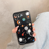 Cute Cartoon Astronaut Couples Silicone Soft iPhone Case