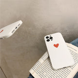 Cute Love Heart Letters Side Soft iPhone Case