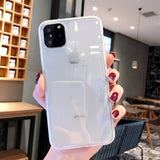 Ladycases - Phone Case Expert - Solid Color Transparent Shockproof Frame Soft TPU Phone Case Back Cover for iPhone SE/11/11 Pro/11 Pro Max/XS Max/XR/XS/X/8 Plus/8/7 Plus/7
