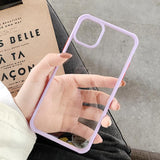 Ladycases - Phone Case Expert - Simple Candy Color Shockproof Bumper Transparent PC Phone Case Back Cover for iPhone 11/11 Pro/11 Pro Max/XS Max/XR/XS/X/8 Plus/8/7 Plus/7