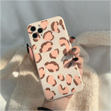 Retro Leopard Print Silicone Soft Phone Case Back Cover for iPhone 12 Pro Max/12 Pro/12/12 Mini/SE/11 Pro Max/11 Pro/11/XS Max/XR/XS/X/8 Plus/8/7 Plus/7