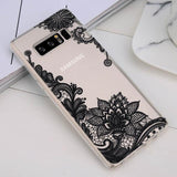Ladycases - Phone Case Expert - Retro Sexy Lace Mandala Flower Phone Case Back Cover for Samsung Galaxy Galaxy Samsung Galaxy S20 Ultra/S20 Plus/S20/S10E/S10 Plus/S10/S9 Plus/S9/S8 Plus/S8/Note 10 Pro/Note 10/Note 9/Note 8