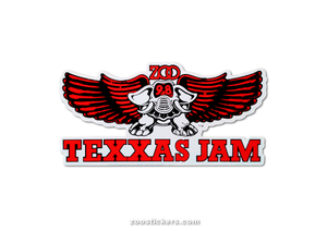 TEXXAS JAM Sticker-Original Size