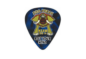 Celluloid Standard Zoo 2 sizes Guitar Picks- 5 Pack Heavy Gauge