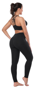 Women High Waist Inner Pocket Yoga Pants Active Workout Running Sports Leggings